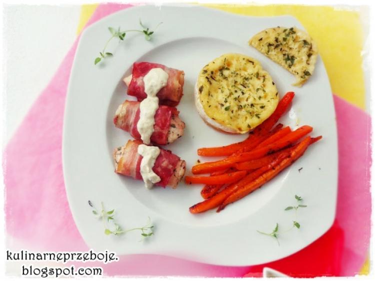 Pieczony Camembert Z Tymiankiem Marchewką I Kurczakiem