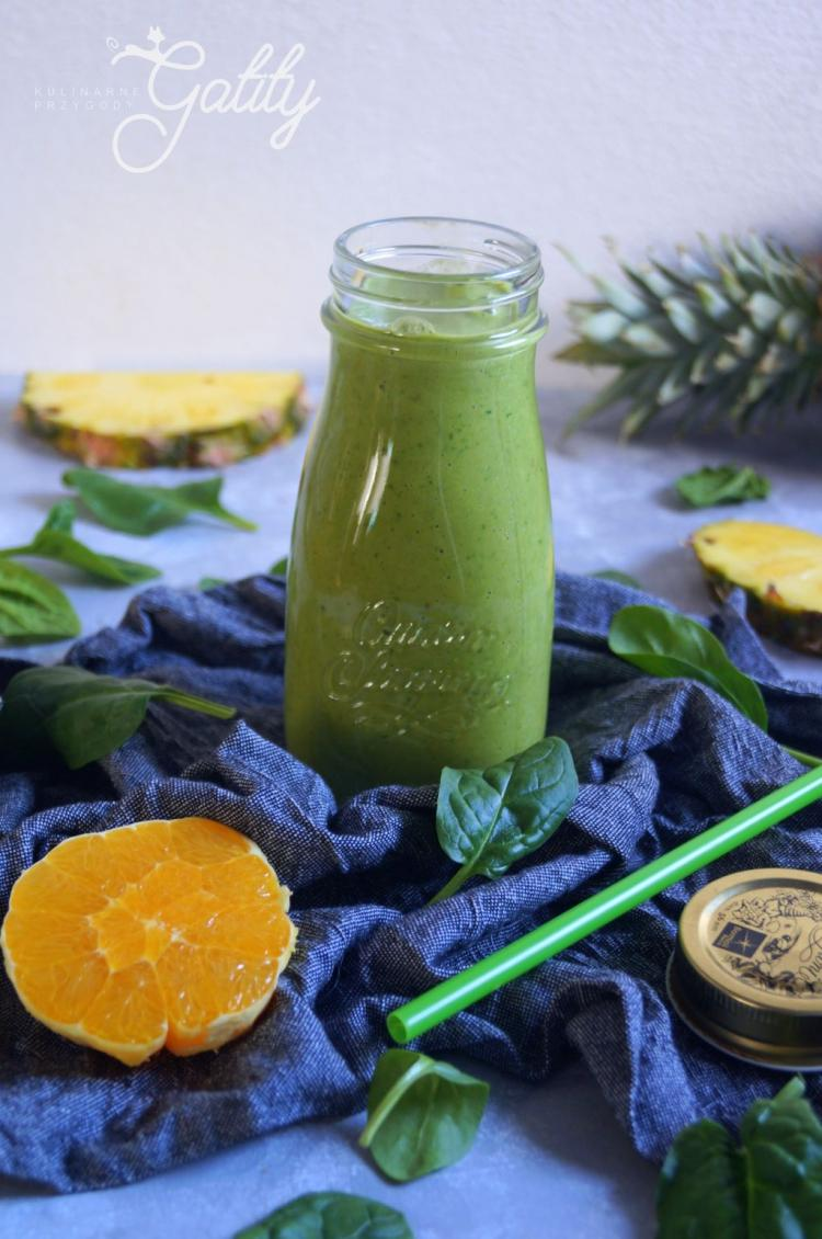 Jogurtowy Zielony Koktajl Z Ananasem Wpis Kulinarne Przygody