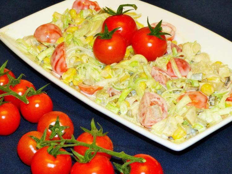 Salatka Z Pora I Pieczarek Z Dodatkami Wpis Kulinarne Odslony